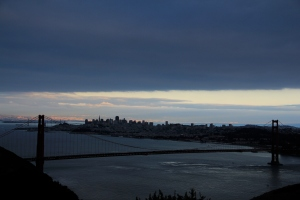 El atardecer en San Francisco y el Golden Gate Bridge